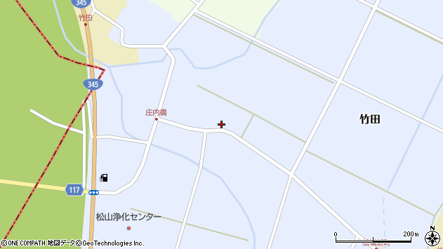 山形県酒田市竹田竹ノ下14周辺の地図