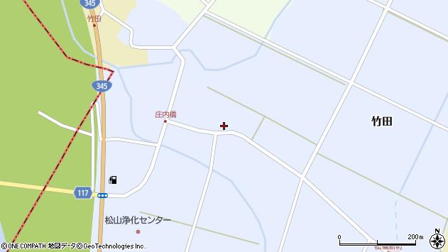 山形県酒田市竹田竹ノ下13周辺の地図