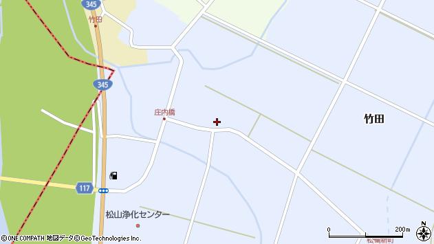 山形県酒田市竹田竹ノ下12周辺の地図
