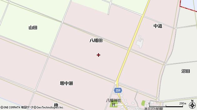山形県酒田市木川八幡田周辺の地図