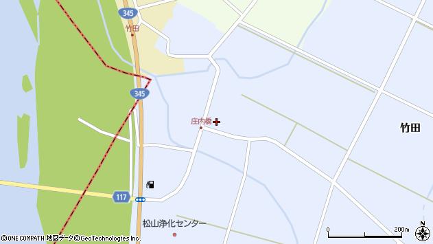 山形県酒田市竹田周辺の地図