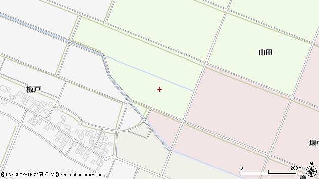 山形県酒田市新堀山田周辺の地図