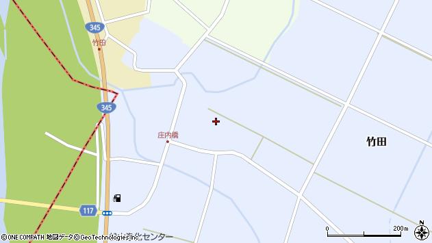 山形県酒田市竹田竹ノ下17周辺の地図