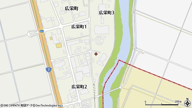 山形県酒田市広栄町3丁目周辺の地図