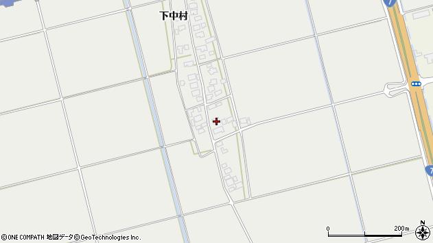 山形県酒田市広野下中村88周辺の地図