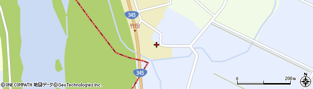 山形県酒田市中牧田山岸2周辺の地図