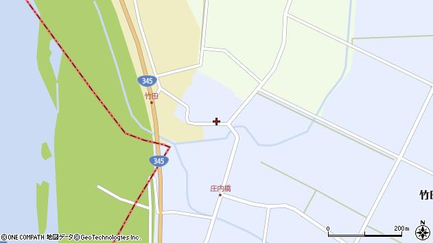 山形県酒田市竹田竹ノ下69周辺の地図
