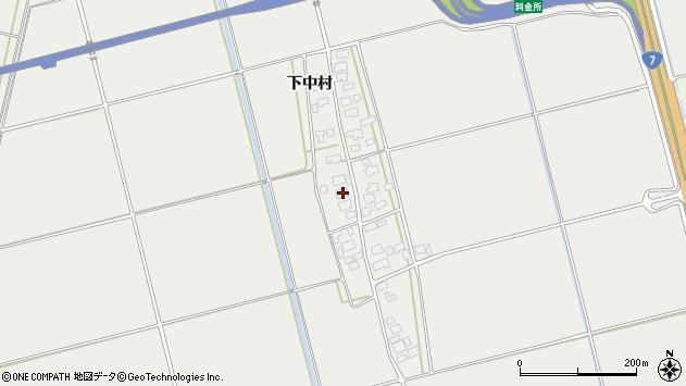 山形県酒田市広野下中村105周辺の地図