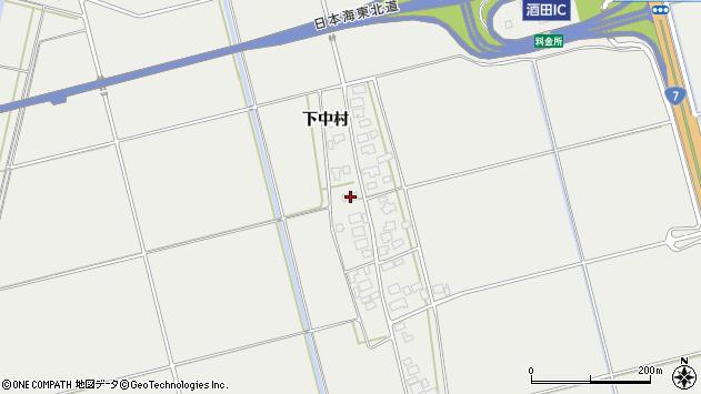 山形県酒田市広野下中村110周辺の地図
