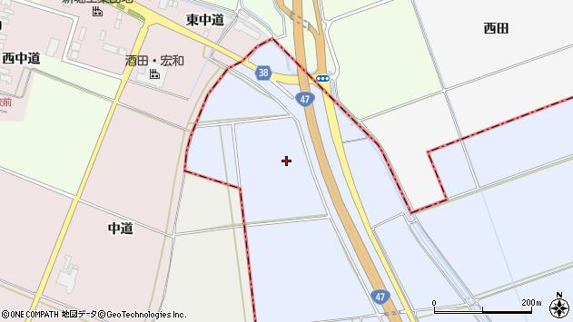 山形県東田川郡庄内町跡殿腰周辺の地図