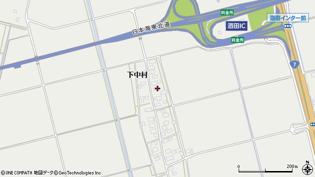 山形県酒田市広野下中村140周辺の地図