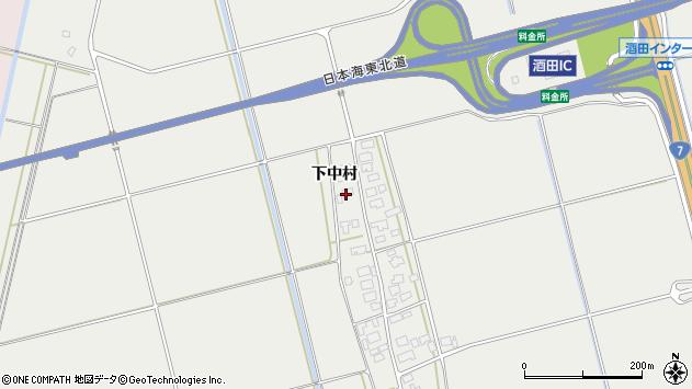 山形県酒田市広野下中村146周辺の地図
