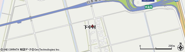 山形県酒田市広野下中村160周辺の地図