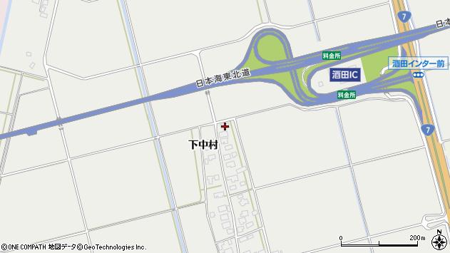 山形県酒田市広野下中村162周辺の地図