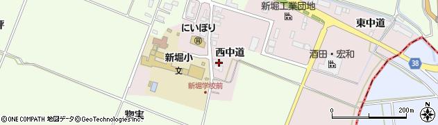 山形県酒田市木川西中道33周辺の地図