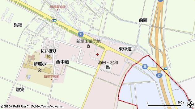 山形県酒田市木川東中道周辺の地図
