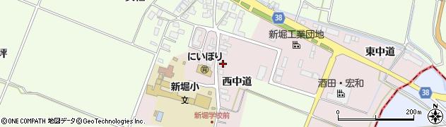 山形県酒田市木川西中道35周辺の地図