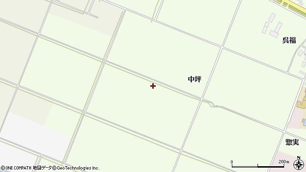 山形県酒田市新堀中坪周辺の地図