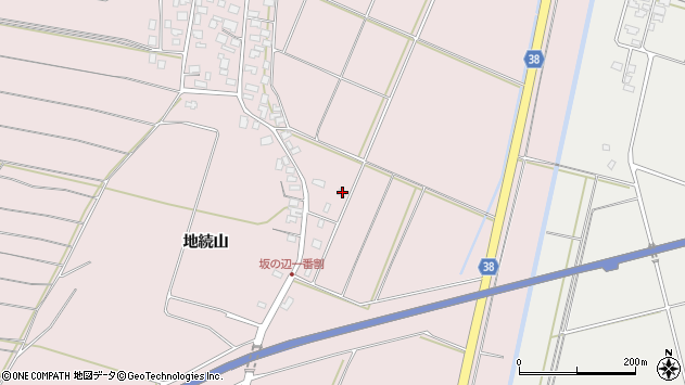 山形県酒田市坂野辺新田一番割38周辺の地図