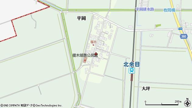 山形県東田川郡庄内町榎木周辺の地図
