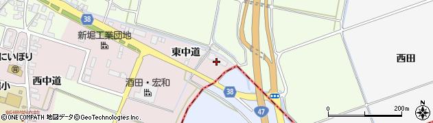 山形県酒田市木川東中道48周辺の地図