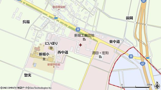 山形県酒田市木川東中道29周辺の地図