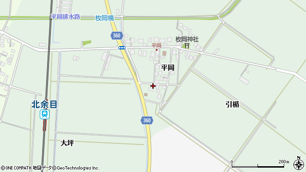 山形県東田川郡庄内町平岡平岡74周辺の地図