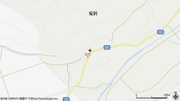 山形県最上郡金山町安沢259周辺の地図