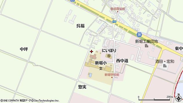 山形県酒田市新堀呉福1周辺の地図
