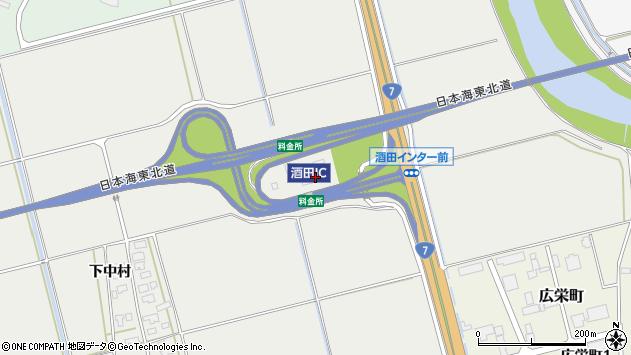 山形県酒田市広野堰西115周辺の地図