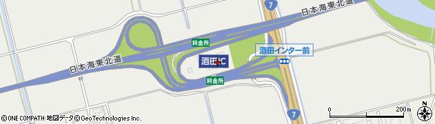 山形県酒田市広野堰西周辺の地図
