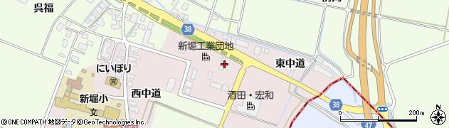 山形県酒田市木川東中道35周辺の地図