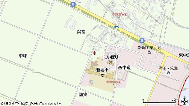 山形県酒田市新堀呉福4周辺の地図