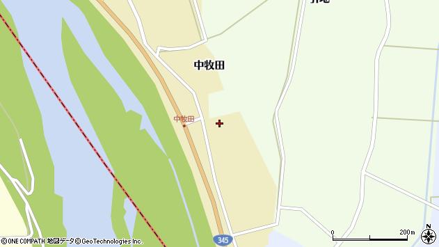 山形県酒田市中牧田山岸62周辺の地図