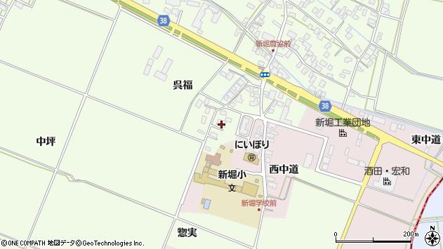 山形県酒田市新堀呉福7周辺の地図