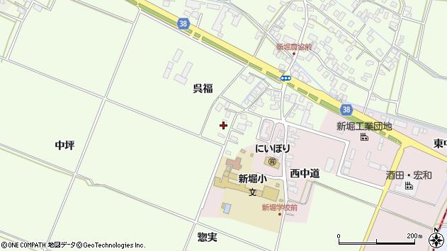 山形県酒田市新堀呉福24周辺の地図