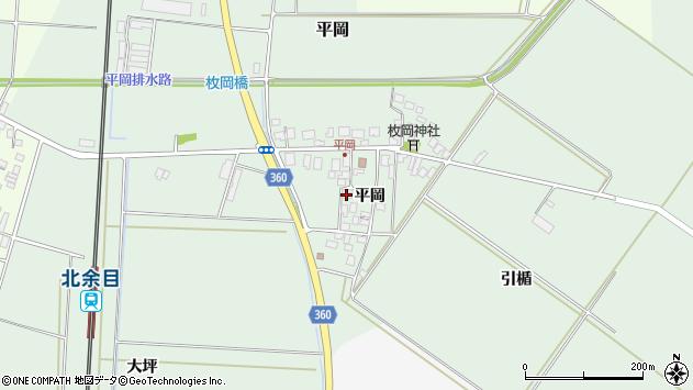山形県東田川郡庄内町平岡平岡20周辺の地図
