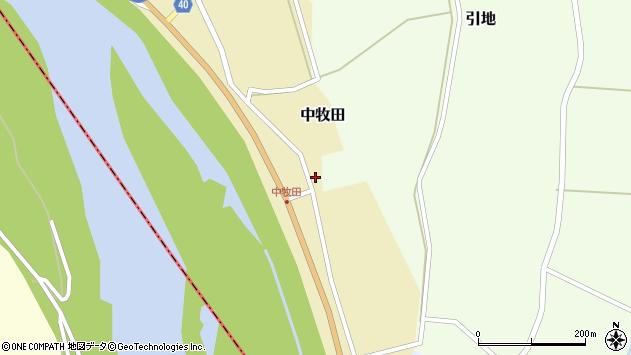 山形県酒田市中牧田前田18周辺の地図