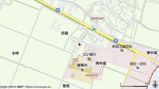 山形県酒田市新堀呉福8周辺の地図