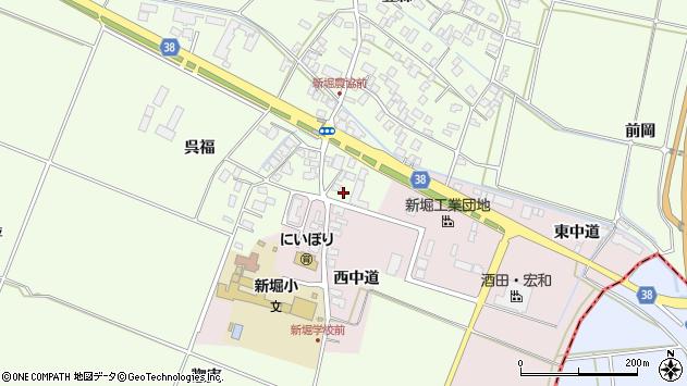 山形県酒田市新堀豊森212周辺の地図