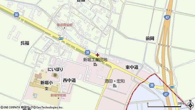 山形県酒田市木川東中道33周辺の地図