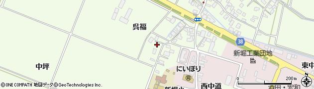 山形県酒田市新堀呉福23周辺の地図