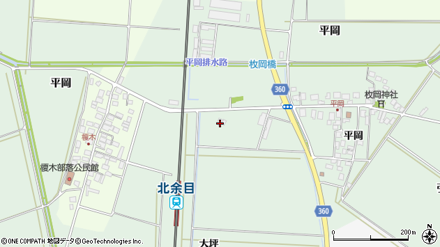 山形県東田川郡庄内町平岡大坪125周辺の地図