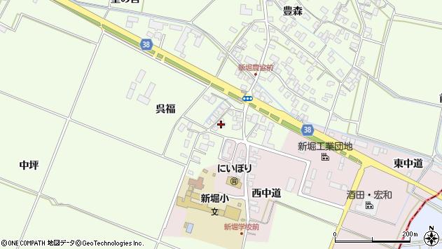 山形県酒田市新堀呉福118周辺の地図