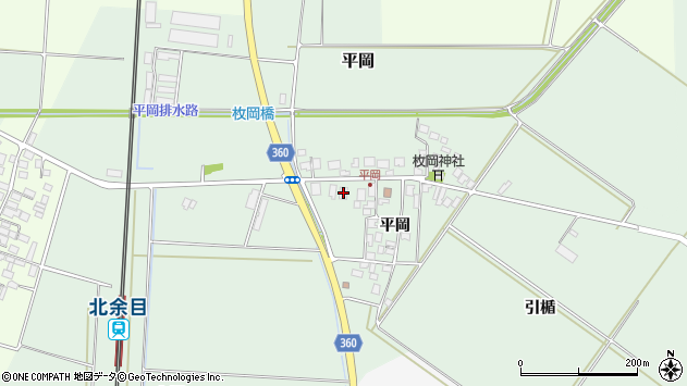 山形県東田川郡庄内町平岡平岡26周辺の地図