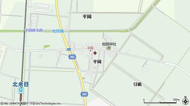 山形県東田川郡庄内町平岡周辺の地図
