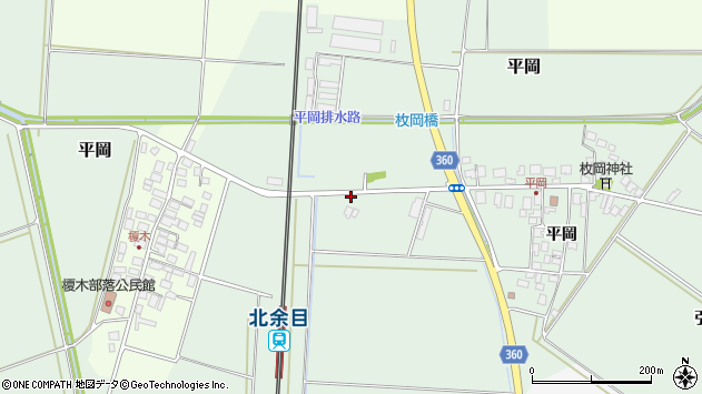 山形県東田川郡庄内町平岡大坪127周辺の地図
