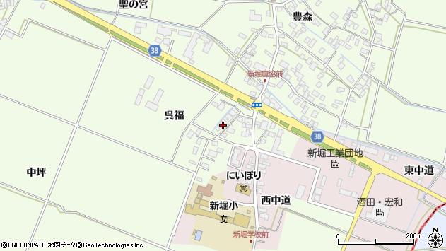 山形県酒田市新堀呉福11周辺の地図