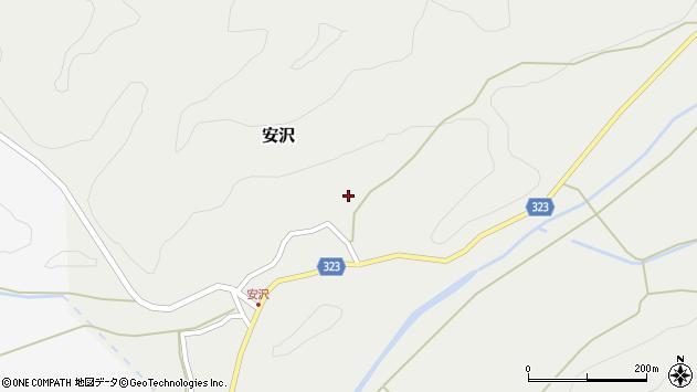 山形県最上郡金山町安沢296周辺の地図