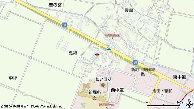 山形県酒田市新堀呉福12周辺の地図
